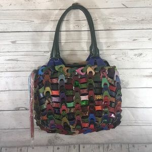 De De multicolored linked leather hobo bag NWOT